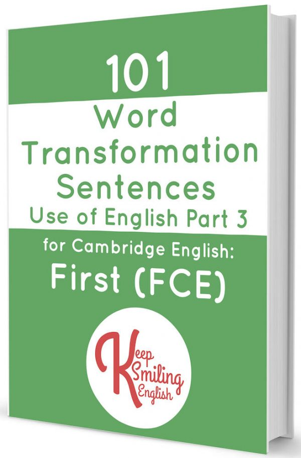101 Word Transformation Sentences for First (FCE)