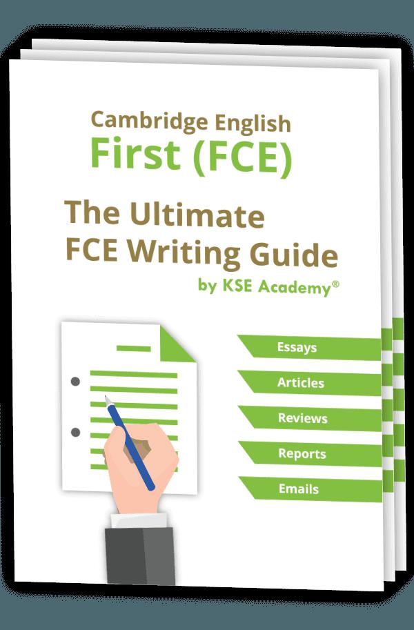 Guía para el Writing del B2 First con 3 ejemplos de cada Writing + 300 expresiones útiles