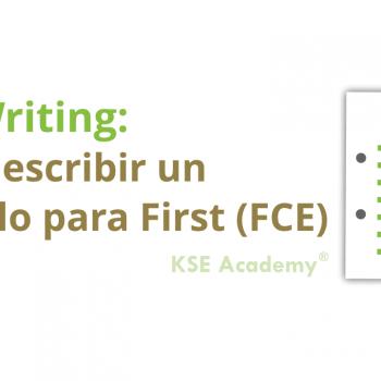 cómo escribir un artículo para fce writing