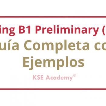 Writing B1 Preliminary (PET)