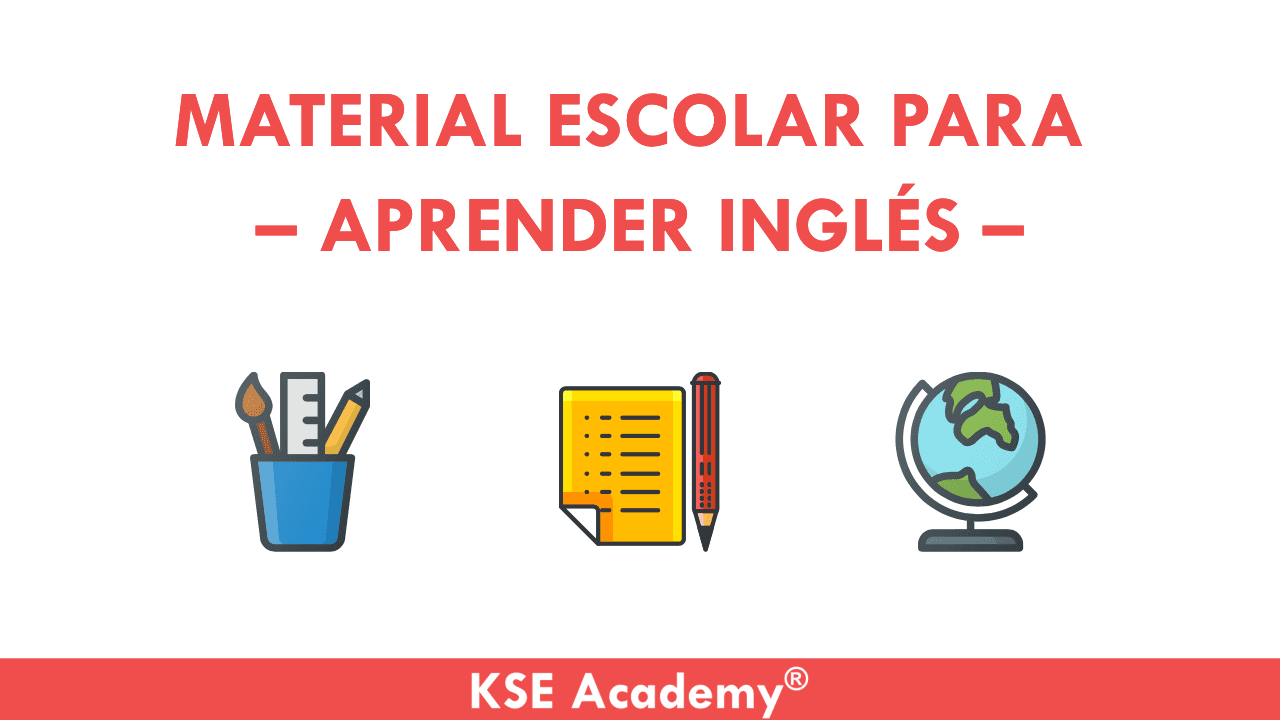 material escolar para aprender inglés